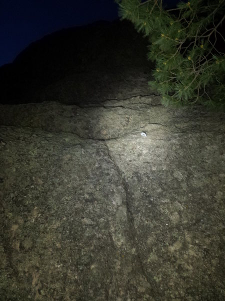 Route ID photo. First bolt and some identifying features. Taken at night, sorry for the poor quality.