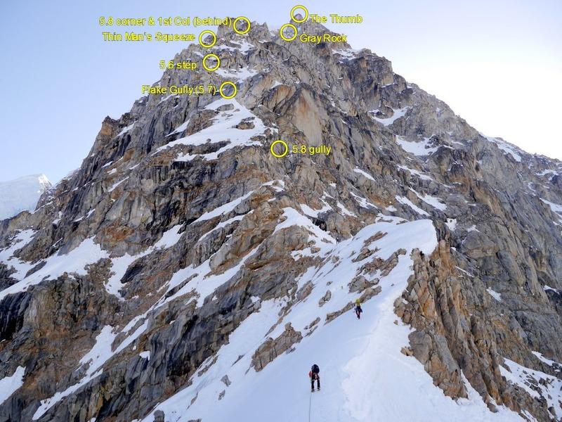 Lower part of SW ridge of Peak 11,300