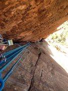 Rock Climbing Photo: Linking P-5&6!