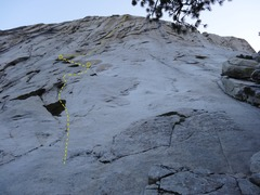 Rock Climbing Photo: Looking up at Samurai Warrior from the base.