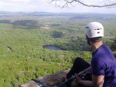 Rock Climbing Photo: Sittings around, checking the view, waiting to rap...