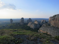 Rock Climbing Photo: Torre N'lundi is the far left tower of the group (...
