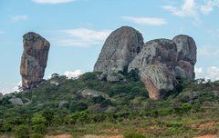 Rock Climbing Photo: Torre N'lundi is the far left tower.  View from st...