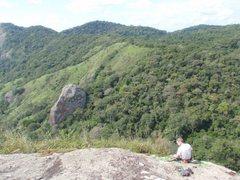 Rock Climbing Photo: On the summit belay.
