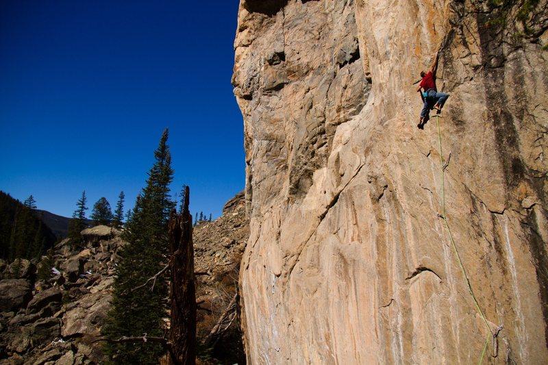 Rock Climbing Photo: Insurrection, 5.14c.  Photo: Adam Sanders.
