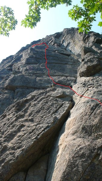 Rock Climbing Photo: The easier way my friend described going up Saber.