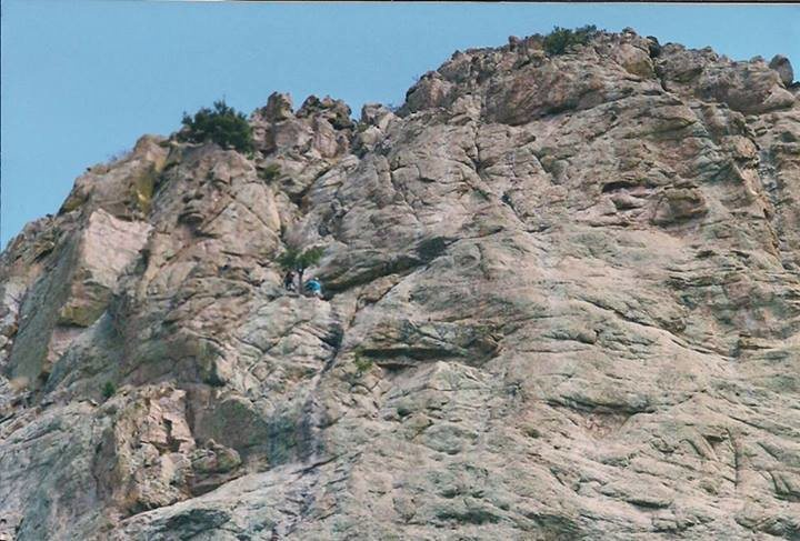 Rock Climbing Photo: The lower pitches