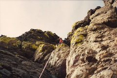 Rock Climbing Photo: The final summit death pitch on the south face of ...