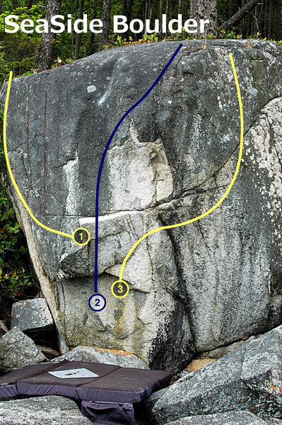 For the most part I have no problem with the lines being visible for a bouldering guide. (You can always resize the photo before uploading it into Beta Creator if you do...) but some times the colour of the rock or other issues make it a bit difficult, so thicker lines would definitely still help. <br> <br> Also, an issue with size maxed out at 9 is that the numbers in the circle are hard to see. Like I said previously, I actually just add white text in Gimp instead of using the circles since they only go up to 12...would be great if I could just use the circles though. Also, plain white text labels are hard to read in some photos. This one is fine, but I now have to add black rectangles in a second program. <br>