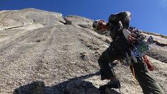 Rock Climbing Photo: Daniel starting pitch 2. Clean rock all around.