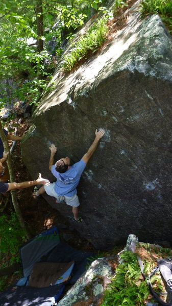 Rock Climbing Photo: Ian to the slot.