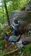 Rock Climbing Photo: Ian and his beta.