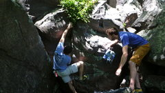 Rock Climbing Photo: Ian on a send