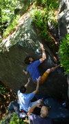 Rock Climbing Photo: Blair on the FA.