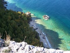 2009.10.10 - Bruce Peninsula National Park, Lion's Head, ON, CAD (Limestone) - Yes, that's correct, this is in Canada. It blows my mind every time I'm there as well.. this is the view from the top of the climbs.