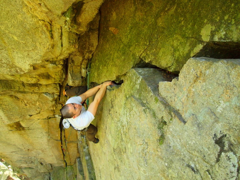 Rock Climbing Photo: Doesn't get much steeper at 5.9 in Squamish!