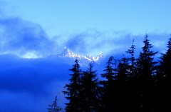 Rock Climbing Photo: View of Gunn Peak from Mine Wall on a Winter's day...