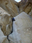 Rock Climbing Photo: Pitch 2 with the overhanging flake above