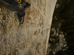 Rock Climbing Photo: Looking down at the amazing knobs and chicken head...