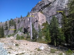 Rock Climbing Photo: Fun House to the left, Gum Drop center, and Candyl...