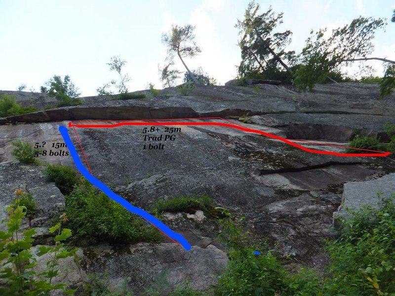 Rock Climbing Photo: Mosquito (bleu/blue)
