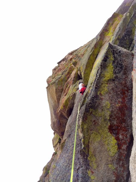 One of the best long, steep, 10a climbs at 'City'.  Several crux's.