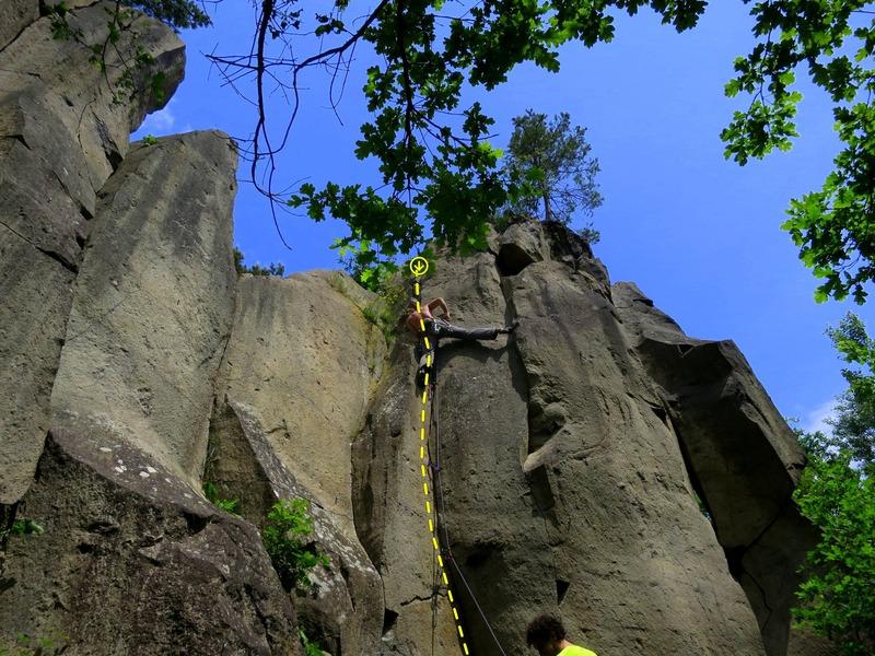 The route (David climbing)