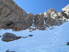 Rock Climbing Photo: mt evans summit couloir cragging