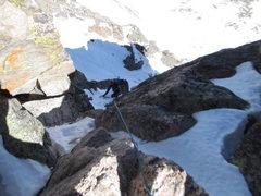 Rock Climbing Photo: mt evans summit couloir