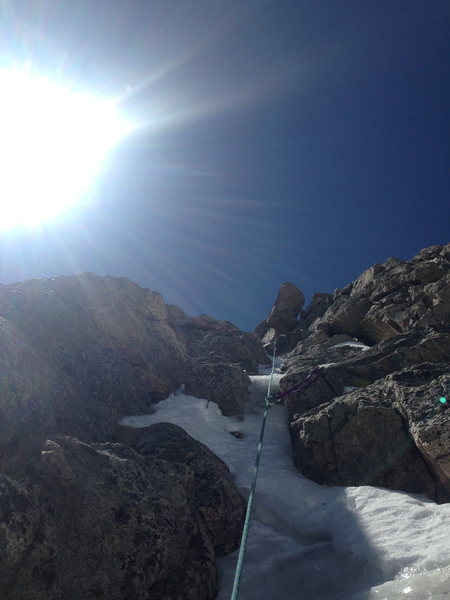 summit cragging at mt evans