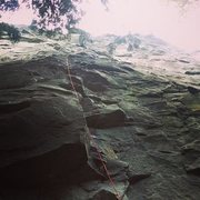 Rock Climbing Photo: Looking up from the base of serendipity/Hull Yeah