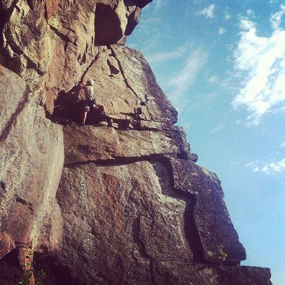 Rock Climbing Photo: the left facing wall near the top of the climb