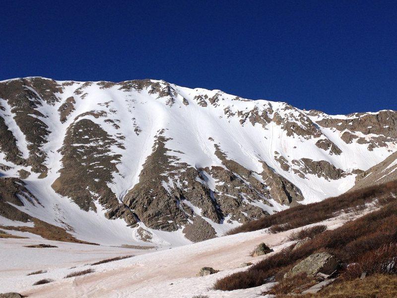 Rock Climbing Photo: North Face of Mt Democrat 6/4/14