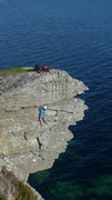 Rock Climbing Photo: Hairy Mairy, VS at Elgol, Skye