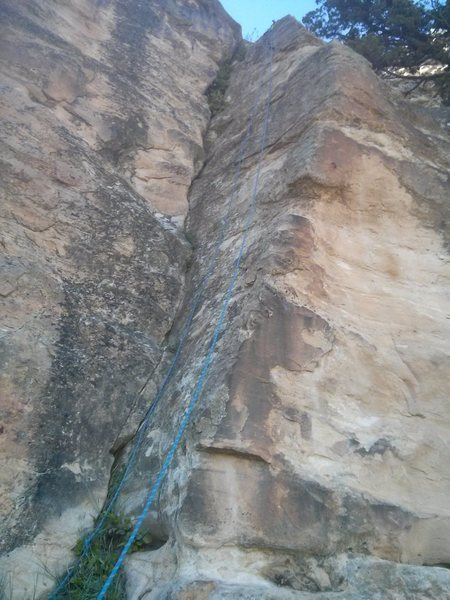 Rock Climbing Photo: Early start.  Super juggy. The bolts wind on both ...