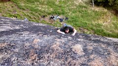 Rock Climbing Photo: Shun climbing. Making it look hard!