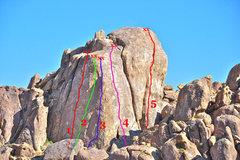 Rock Climbing Photo:  Select Routes of Alabama Dome 1Blockade Runner,...