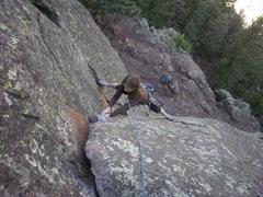 Rock Climbing Photo: The direct start....