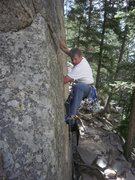 Rock Climbing Photo: Huston Crack. I tried to top rope this as a little...