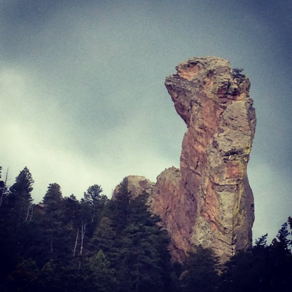 Rock Climbing Photo: The Maiden (from the Shadow Canyon connector trail...