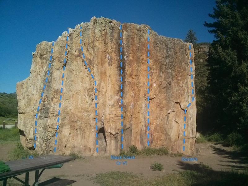 Rock Climbing Photo: East face of Big Ass.