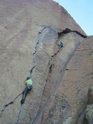 Rock Climbing Photo: Karate Crack 5.10a