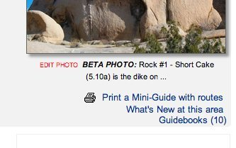 Rock Climbing Photo: Mini-guide - only shows up for Areas that have rou...