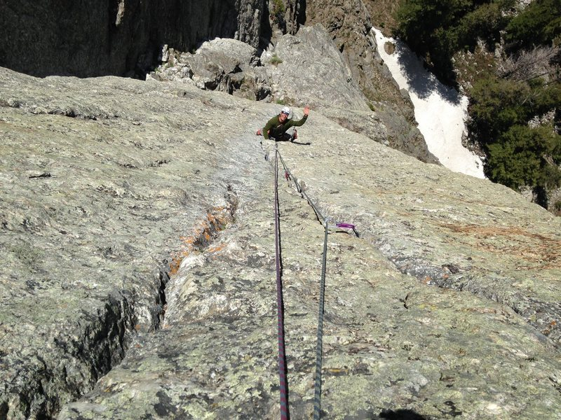 Rock Climbing Photo: professional christ on the Snazette variation, a s...