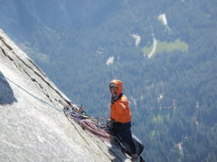 Rock Climbing Photo: I'm not sure what this guy is trying to say.  I sh...