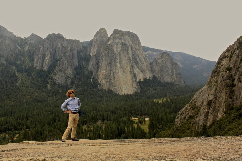 After my final climb in Yosemite: A free solo up After Seven in Dress clothes.