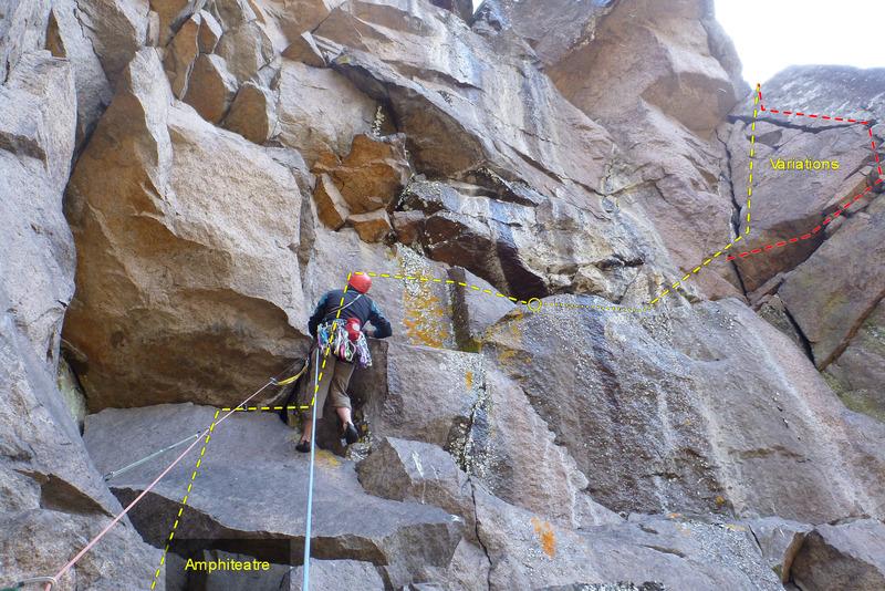 Rock Climbing Photo: Ampitheatre traverse