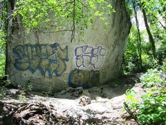 Rock Climbing Photo: Backside of Riverside, notice the torched tree rem...