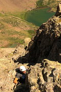Rock Climbing Photo: Cully just feet below the summit.