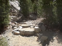 Rock Climbing Photo: Turn off the trail at these steps and start workin...
